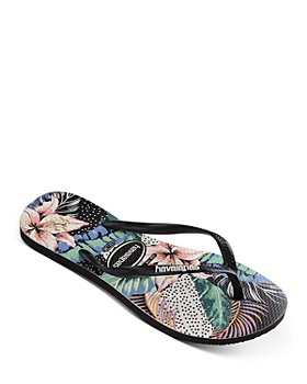 havaianas - Women's Slim Animal Floral Thong Sandals