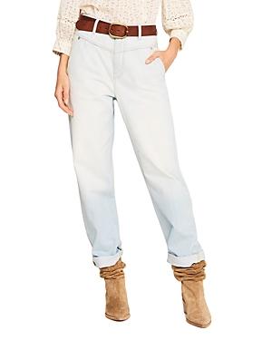 ba & sh Eliz High Waisted Straight Leg Jeans in Ciel-Women