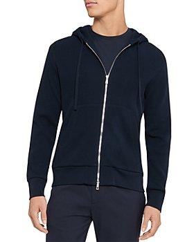Theory - Mattis Organic Cotton Zip-Front Hoodie