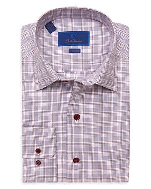 David Donahue Plaid Fusion Shirt-Men