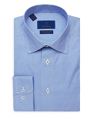 David Donahue Houndstooth Luxury Non Iron Dress Shirt-Men