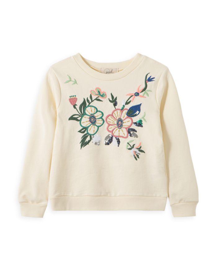 Peek Kids Girls' Celia Embroidered Flower Sweatshirt - Little Kid, Big Kid  | Bloomingdale's