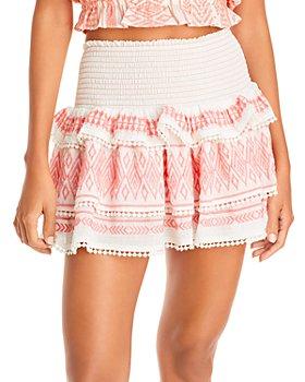 Ramy Brook - Paros Embroidered Ruffled Skirt