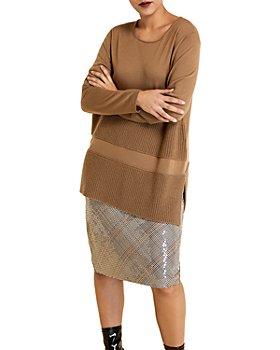 Marina Rinaldi - Antifona Wool Block Ribbed Sweater
