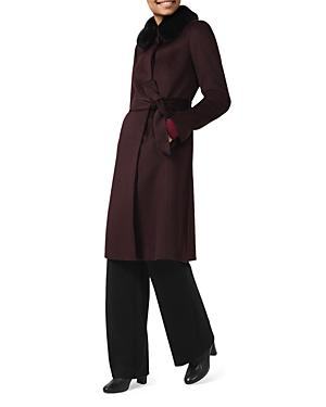 Edeline Faux Fur Collar Coat
