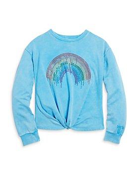 Butter - Girls' Embellished Twist Front Sweatshirt - Big Kid