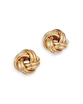 Bloomingdale's - 14K Yellow Gold Royal Chain Love Knot Stud Earrings - 100% Exclusive