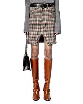 Zadig & Voltaire - Jeu Car Plaid Mini Skirt