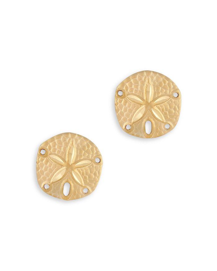 Bloomingdale's Sand Dollar Stud Earrings in 14K Yellow Gold - 100% Exclusive  | Bloomingdale's