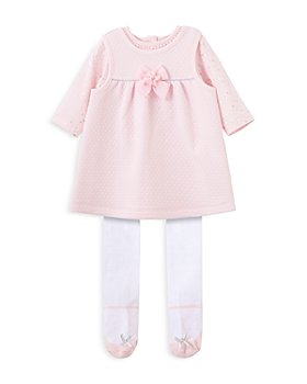 Little Me - Girls' Printed Top, Quilted Jumper & Tights Set - Baby