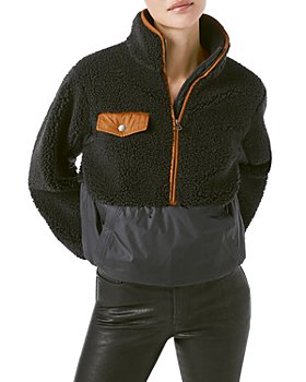 FRAME - Mixed-Media Pullover Fleece