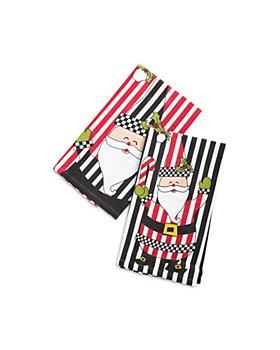 Mackenzie-Childs - Jolly Santa Dish Towels, Set of 2