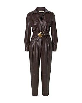 Nicholas - Elena Belted Vegan Leather Jumpsuit