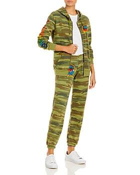 Aviator Nation - Graphic Zip Hoodie & Sweatpants