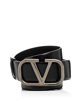 Valentino Garavani - Men's Logo Buckle Leather Belt