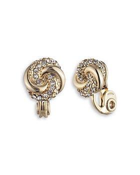 Ralph Lauren - Pave Knot Button Earrings