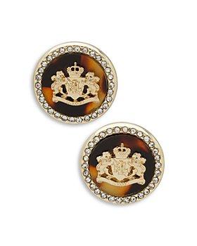 Ralph Lauren - Crest Pave Button Earrings