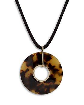 """Ralph Lauren - Beaded Logo Pendant Necklace, 17"""""""
