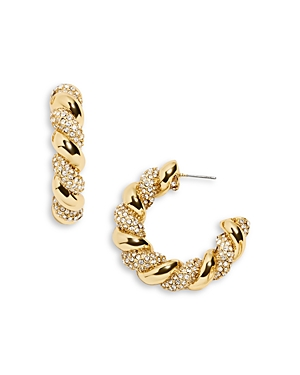 Baublebar Earrings TWIZZLER PAVE HOOP EARRINGS