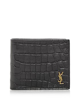 Saint Laurent - Croc Embossed Bifold Wallet