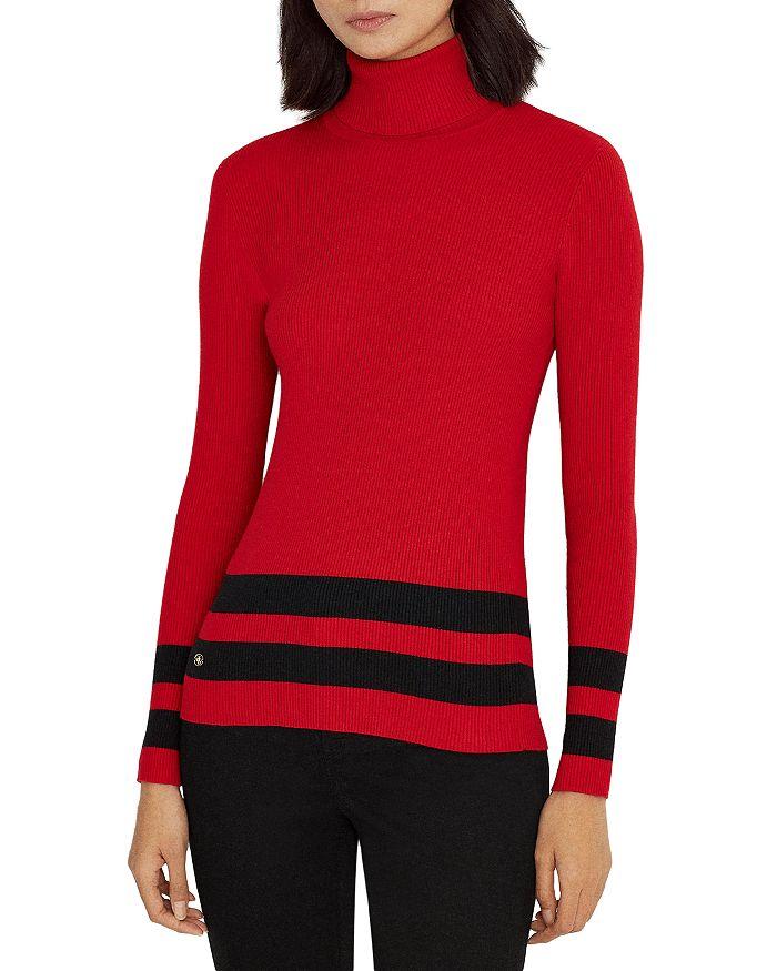 Ralph Lauren - Metallic Stripe Ribbed Sweater