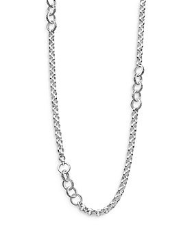 """LAGOS - Sterling Silver Signature Caviar Station Necklace, 34"""""""