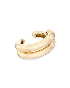 14K Yellow Gold Puffy Ear Cuff