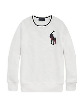 Ralph Lauren - Boys' Plaid Patch Sweatshirt - Little Kid, Big Kid