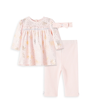 Little Me Girls' Sparkle Tunic, Pants & Headband Set - Baby