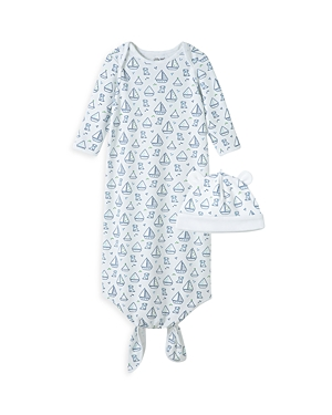 Little Me Boys\\\' Boat Knot Gown & Hat Set - Baby-Kids
