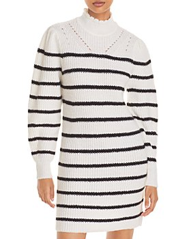 AQUA - Striped Sweater Dress - 100% Exclusive