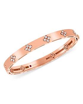 Roberto Coin - 18K Rose Gold Love in Verona Diamond Bangle Bracelet