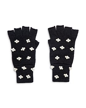 Lele Sadoughi - Embellished Fingerless Knit Gloves
