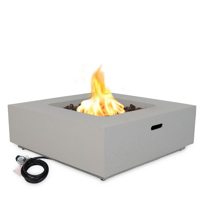 Sunnydaze Decor - Outdoor Rectangular Wood Burning Fire Pit
