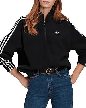 Adidas Three Stripes Zip Up Top