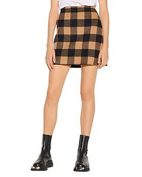 Sandro - Alana Checked Mini Skirt