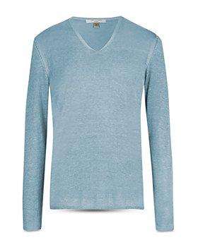 John Varvatos Collection - Silk & Cashmere Regular Fit V-Neck Sweater