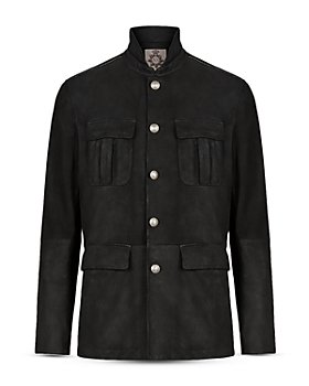 John Varvatos Collection - Regular Fit Leather Officer Jacket