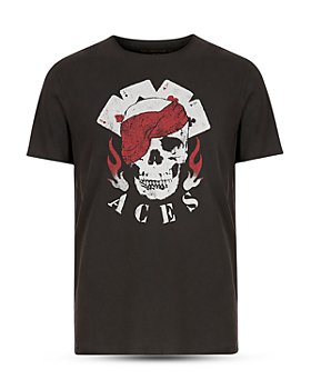 John Varvatos Star USA - Raw Edge Vintage Wash Aces Graphic Tee