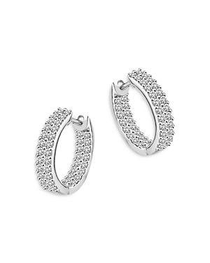 Bloomingdale's Diamond Inside Out Hoop Earrings in 14K White Gold, 1.0 ct. t.w. - 100% Exclusive