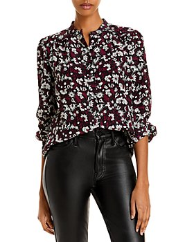 Joie - Myella Floral Puff Sleeve Silk Top