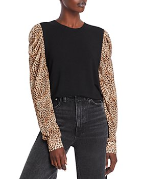 Generation Love - Quinn Cheetah Print Puff Sleeve Top
