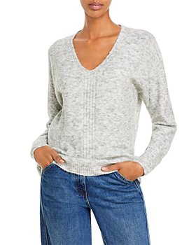 AQUA - V Neck Knit Sweater - 100% Exclusive