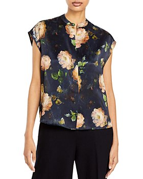 Vince - Painted Rose Silk Top
