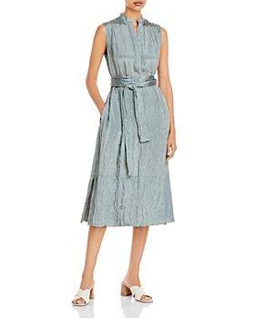 Vince - Textured Sleeveless Popover Dress