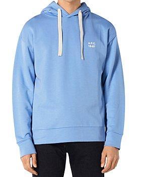 A.P.C. - Jason Cotton Blend Logo Print Hoodie