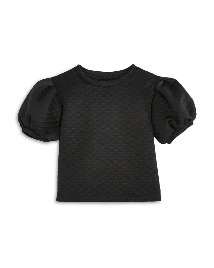 AQUA - Girls' Quilted Puff Sleeve Top, Big Kid - 100% Exclusive