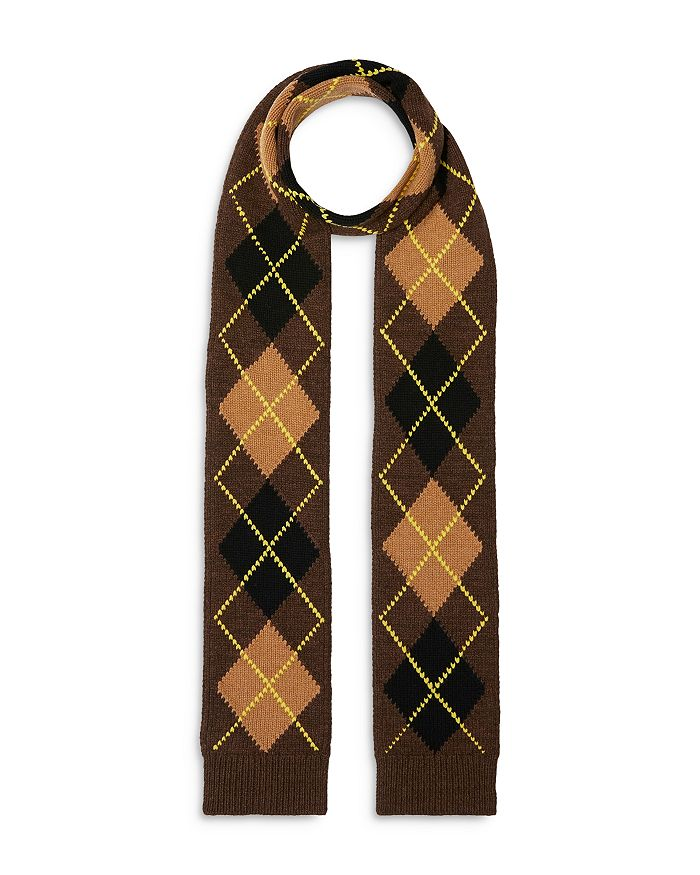 Burberry - Argyle Knit Wool-Cashmere Scarf
