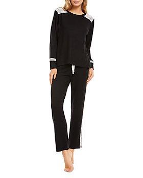 Flora Nikrooz - Charlie Hacci Lace Trim Long Pajama Set