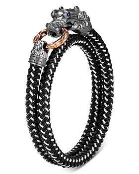 JOHN HARDY - Black Rhodium Silver & Bronze Legends Naga Men's Dragon Wrap Bracelet